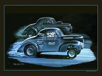 "Art  ""Showdown""  Match Race Mallicoat Stone Woods Cook Willys Lions Dragstrip 63"