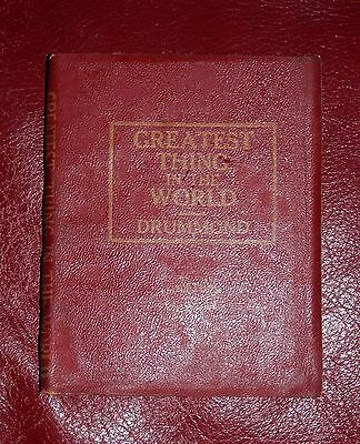 Vintage Miniature Library Greatest Thing in the World Drummond Red Leather Book