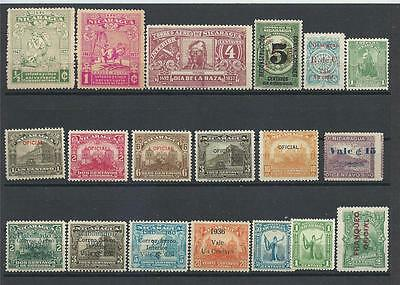 Nicaragua 1936-37 Official + Airmail variety MH MLH