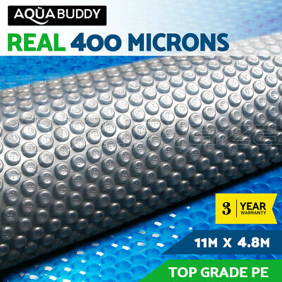 Solar Swimming Pool Cover 400 Micron Outdoor Bubble Blanket 11MX4.8M