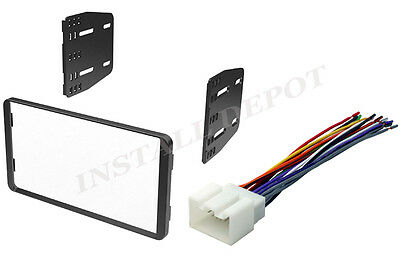 double 2 din car stereo radio dash kit installation trim bezel w ford lincoln mercury double din dash kit wiring harness car stereo cd install
