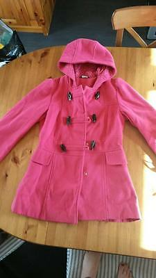 Bright Pink Winter Hooded Jacket 13-14yrs