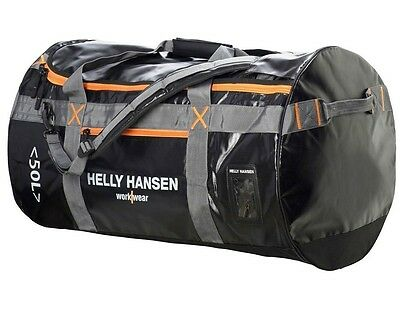 Helly Hansen Work Bag Duffel 50L Water Resistant Nylon Pocket 79563