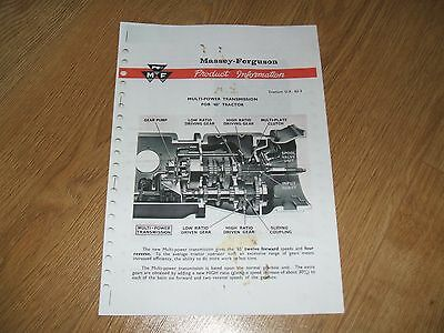 Massey Ferguson 65 Multi-Power Transmission, Product Information Booklet (Copy)