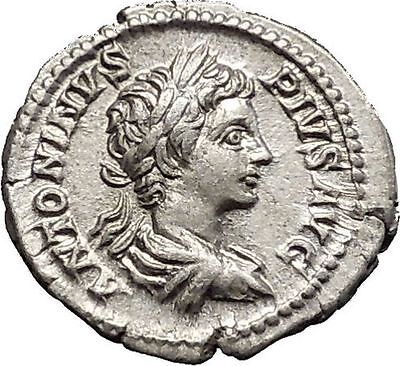 CARACALLA  201AD Rome mint Silver Ancient Roman Coin Nike Victory Cult i51139