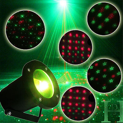 5 Images LED Moving Laser Projector Lights Christmas Wedding Outdoor Waterproof