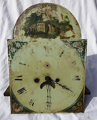 8 Day Long Case Grand Father Clock Dial And Movement By John Morgan Of Narberth