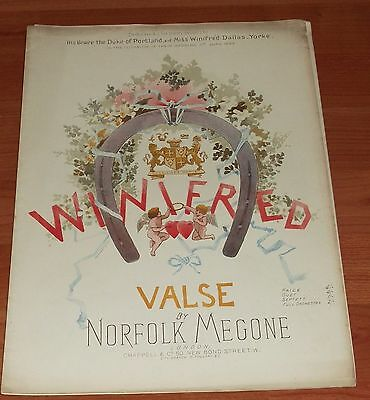 Victorian Pictorial Sheet Music..winifred Valse..