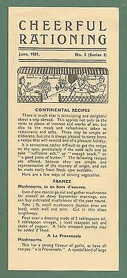 1951 Southern Electricity Board Recipe Leaflet Cheerful Rationing Continental