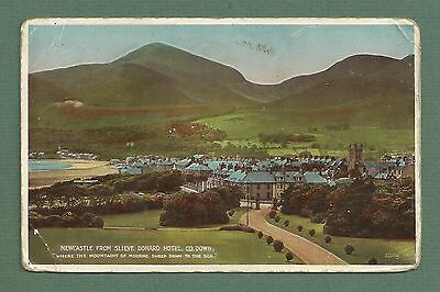 1941 Pc Newcastle From Slieve Donard Hotel County Down
