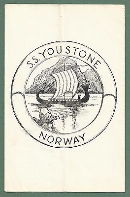 1930's Programme John Ellerman's Private Amateur Theatricals Cruise Of Youstone