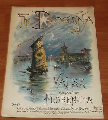 Victorian Pictorial Sheet Music..the Dogana Valse.