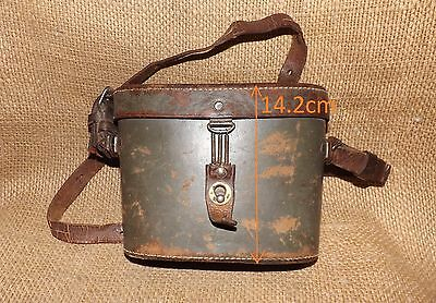 pre WW2 LEATHER CASE FOR BINOCULARS (possible german) marked with KM