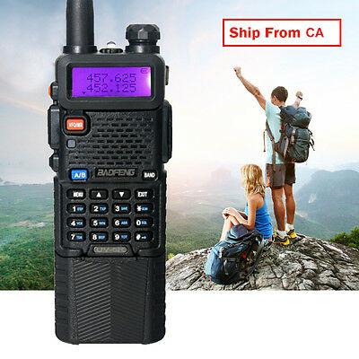Canada Stock BAOFENG UV-5R Dual Band Walkie Talkie+3800mAH Battery Two Way Radio