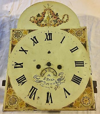 Antique Longcase Grandfather Clock Movement And Dial : J BELL NORWICH