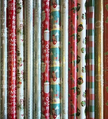 4 - 48 Metres Wrapping Paper Gift Wrap Christmas Birthday Rolls Various Designs