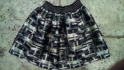 gorgeous age 11 black and gold skirt party wear vgc worn 1 ideal christmas wear