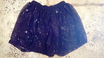 age 9 black tutu skirt sequins all over ideal parties over christmas