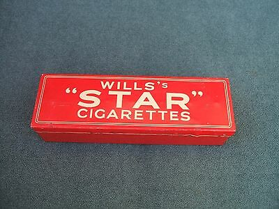 "Old Wills's ""Star"" Cigarettes Tin + Complete Set of Advertising Dominoes c 1930s"