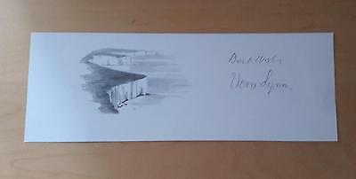"""An Original Sketch Of """"the White Cliffs"""" Of Dover Signed By Vera Lynn"""