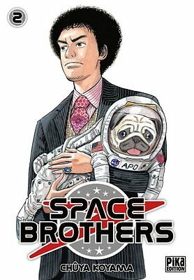Space Brothers T02 Chuya Koyama Pika Pika Seinen Francais 224 pages Broche Book