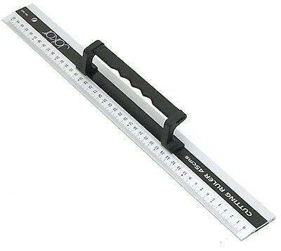 Aluminium Cutting Ruler With A Black Grip Handle (45cm)