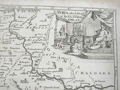 1760 Antique MAP SYRIA Alexander the Great Middle East Palmyra River Euphrates