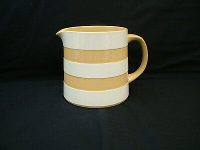 T G Green cornishware jug restyled by Judith Onions in beige and white