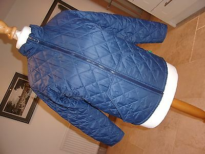 UNITED COLORS OF BENETTON Girls Blue Quilted Jacket age 10 yrs