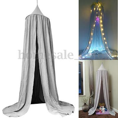 Grey Bed Netting Canopy Mosquito Bedding Net Baby Kids Reading Play Tents Cotton