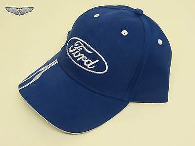 Ford Lifestyle Collection New Genuine Ford Oval Baseball Cap Hat (Blue) 35020531