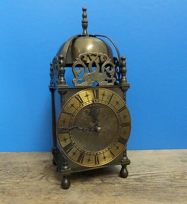 Large Brass Cased Vintage Smiths Nell Gwynn Mantle Lantern Clock