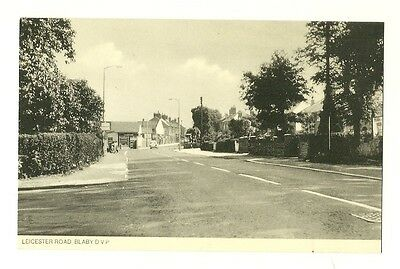 Blaby - a photographic postcard of Leicester Road