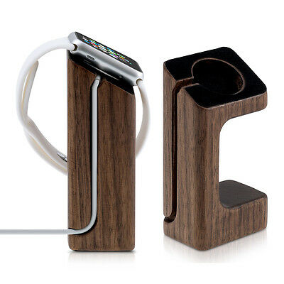 kwmobile  SUPPORT CHARGEMENT EN BOIS AUTHENTIQUE POUR APPLE WATCH BOIS DE ROSE