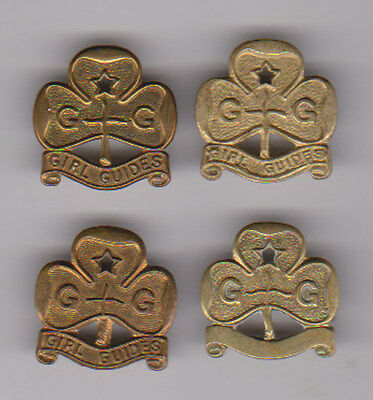 Four pre.1968 Girl Guide Promise badges various manufacturers
