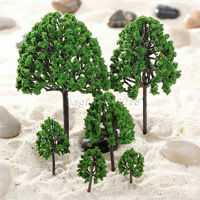 11pcs Tree Model Assorted Size Train Railway Diorama Scenery Layout O Scale 1:50