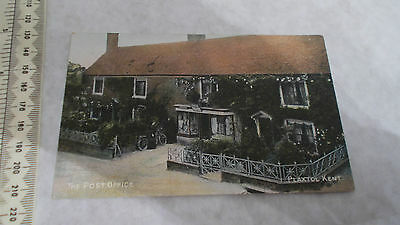 Vintage Postcard Titled The Post Office,plaxtol,kent. Vgc.the Kent Series