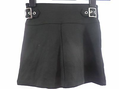Girls River Island Black Buckle A-Line Skirt 5-6 Years box5623 H