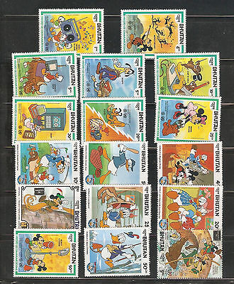 a stock page of Disney mint never hinged single stamps from Bhutan.