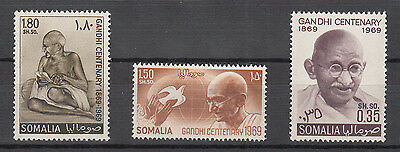 Somalia 1969 Mahatma Gandhi Civil Rights Nobel Candidate India 3V. Nuovi Mnh**