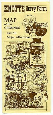 """Vintage """"Knott's Berry Farm"""" Brochure: """"Map of the Grounds & Major Attractions"""""""