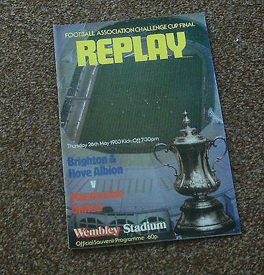 FOOTBALL PROGRAMME- BRIGHTON v MANCHESTER UNITED  (1983 FA Cup Final Replay)