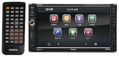 "SOUNDSTORM SSL DD888 7"" 2-Din In-Dash DVD/CD Player Receiver USB/SD/MP3+Remote"