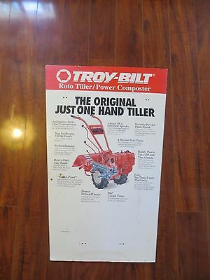 Troy Bilt roto tiller /Power Composter store display advertising cardboard sign