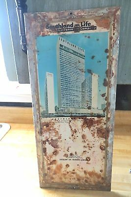Southland Life Insurance Company since 1908 metal advertising calendar pad sign