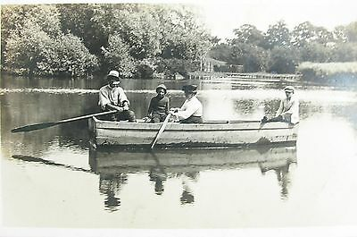 Boating On The Pond At Iken Woodbridge Suffolk Early Rp Pc