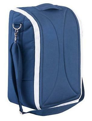 Snug Travel Baby Bed / Cot - Doubles as a Nanny and Diaper Bag (Blue)...