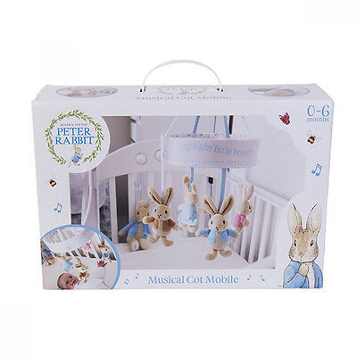 Beatrix Potter Peter Rabbit musical cot mobile Gift Baby Kids - New - Perth