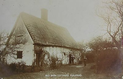 Murder Location - Red Barn Cottages Polstead Suffolk 1905 Rp Pc