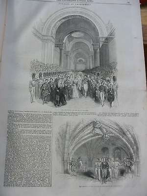 LN-1844-Parlament Queen House of Parlament-Royal Gallery-Holzstich-engraving
